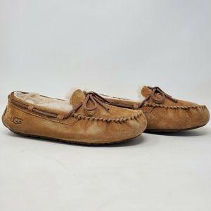 UGG Australia Dakota Brown Sheepskin Slippers 9